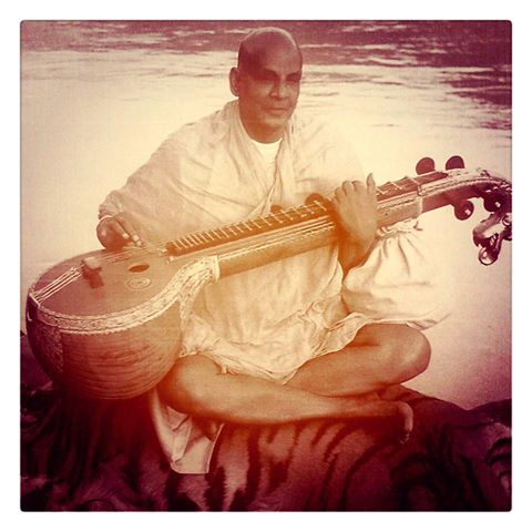 with veena or instrument